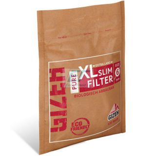 GIZEH PURE XL Slim Filter 6mm 10 x 120er Beutel