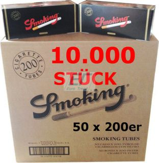Smoking 5 x 200er Filterhülsen RED
