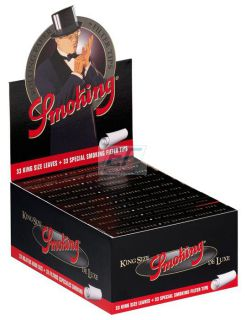 Smoking Paper K.S. Black Deluxe  mit Filtertips 24er Box/33 Blatt + 33 Tips