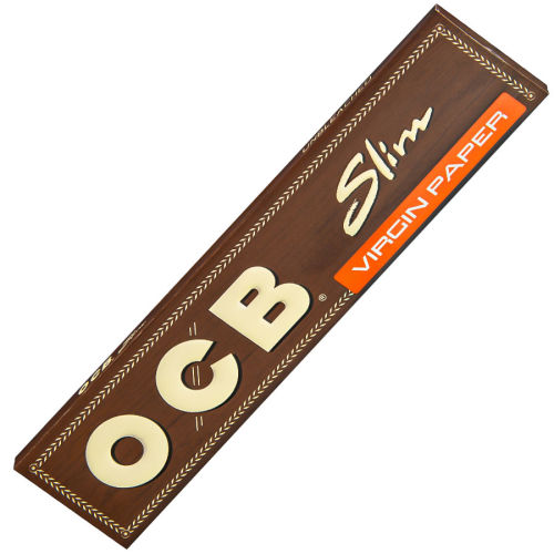 OCB Unbleached Virgin Long Slim 50er Box/32 Blatt