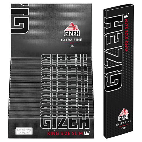 GIZEH Black King Size Slim 25er Box/34 Blatt