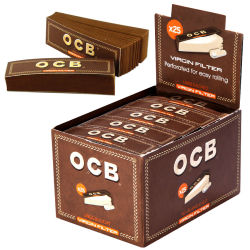 OCB Virgin Unbleached Filtertips 25er Box/50 Tips