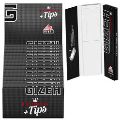 GIZEH Black King Size Slim + TIPS 26er Box/ je 34...