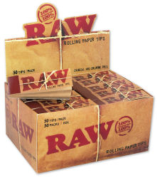 RAW Unbleached Filtertips schmal 50er Box/50 Tips