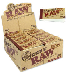 RAW Wide Filtertips perforiert 50er Box/50 Tips