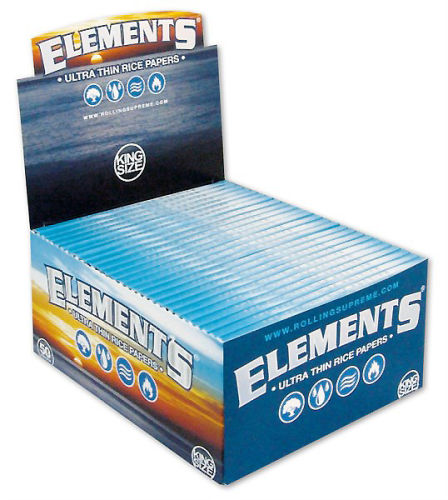 Elements King Size Ultra Thin Papier 50er Box/33 Blatt