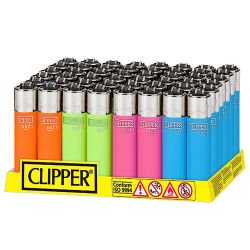 Clipper Feuerzeug  SOFT TOUCH NEON  48er Display
