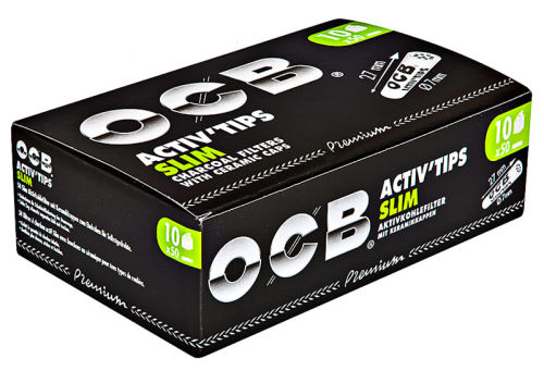 OCB Aktiv Slim Tips 50er Box 7mm Premium