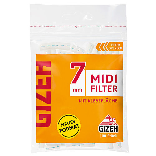 GIZEH Midi Filter 7mm 10 x 100er Beutel