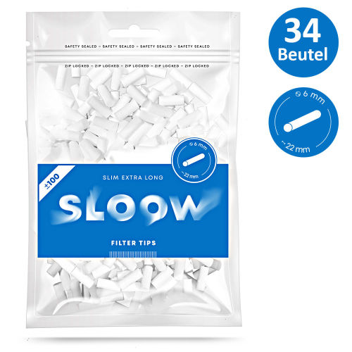 Sloow Slim Filter Extra Long 34x100er Beutel 6mm