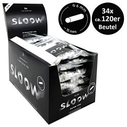 Sloow Black Filter Slim 34 x120er Beutel 6mm