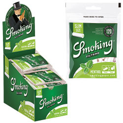 Smoking Menthol Slim Filter 10 x 120er Beutel 6mm