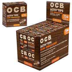 OCB Activ Slim Tips 10er Box 7mm Unbleached
