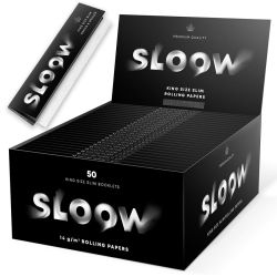 Sloow Black King Size 50er Box/ je 32 Blatt
