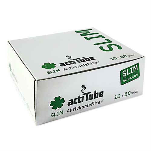 actiTube Aktivkohlefilter Slim ca.7mm 50er Box