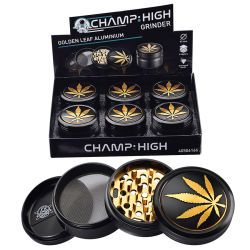 Grinder Metall  Golden Leaf  63mm Champ High