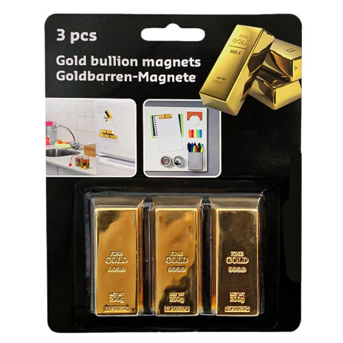 Magnet als Deko-Goldbarren 3er Set