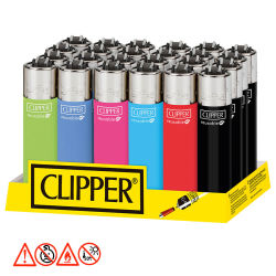 Clipper Feuerzeug  Solid Branded  24er Display